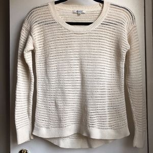 NWOT Madewell (XS) Crochet Knit Pullover Sweater